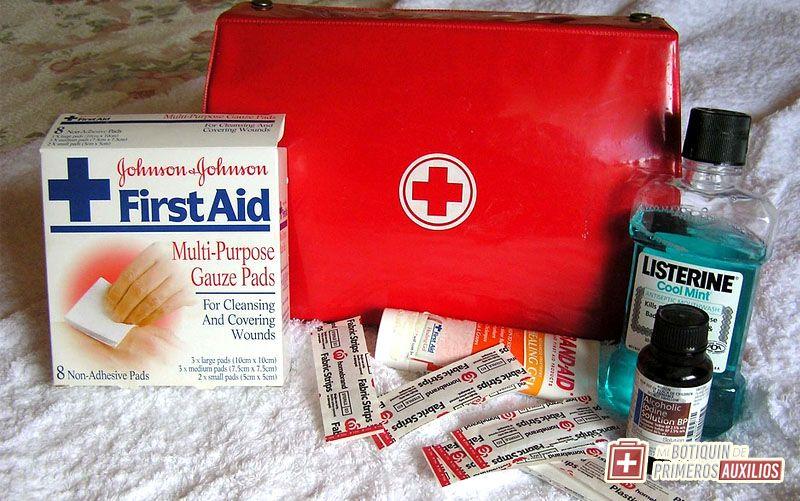 contenido del botiquin de primeros auxilios